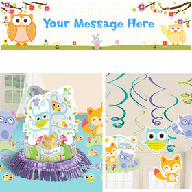 Baby Shower Decorating Kit - Welcome Woodland