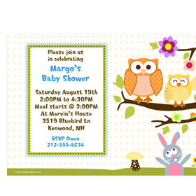 Woodland Baby Personalized Invitation