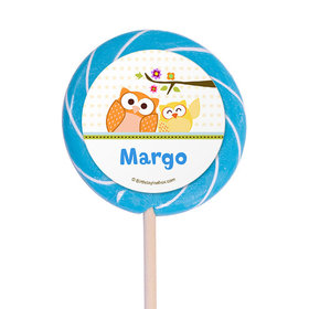 "Woodland Baby Personalized 3"" Lollipops (12 Pack)"