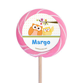 """Woodland Baby Personalized 3"""" Lollipops (12 Pack)"""