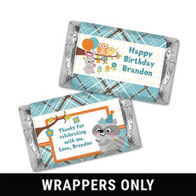 Personalized Birthday Woodland Boy Miniatures Wrappers