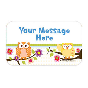 Woodland Baby Personalized Rectangular Stickers (18 Stickers)