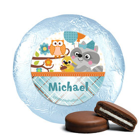 Personalized Birthday Woodland Boy Milk Chocolate Covered Oreos (24 Pack)