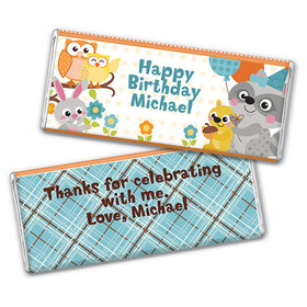 Personalized Birthday Woodland Boy Chocolate Bar & Wrapper