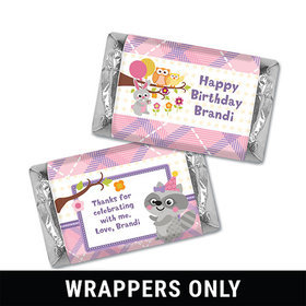 Personalized Birthday Woodland Girl Miniatures Wrappers