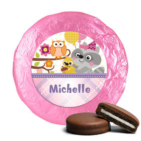 Personalized Birthday Woodland Girl Milk Chocolate Covered Oreos