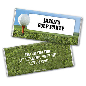 Personalized Birthday Golf Chocolate Bar Wrappers