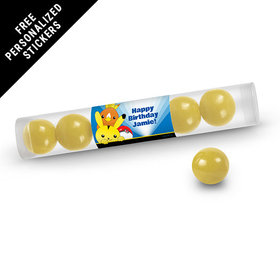Birthday Personalized Gumball Tube Pokemon (12 Pack)