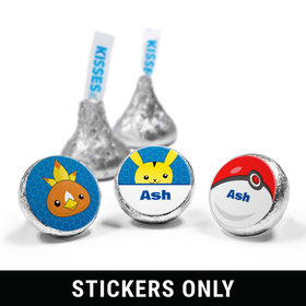 "Personalized Birthday Pokemon Themed 3/4"" Sticker (108 Stickers)"