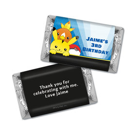 Personalized Birthday Pokemon Themed Hershey's Miniatures