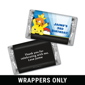 Personalized Birthday Pokemon Themed Miniatures Wrappers