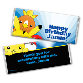 Personalized Birthday Pokemon Themed Chocolate Bar & Wrapper