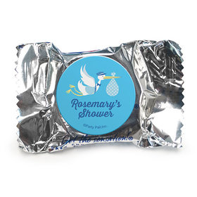 Personalized Baby Shower Blue Stork York Peppermint Patties