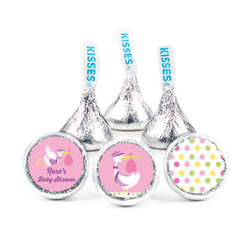 Personalized Baby Shower Pink Stork Hershey's Kisses (50 Pack)