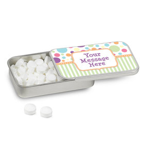 Personalized Pastel Baby Shower Mint Tin (12 Pack)