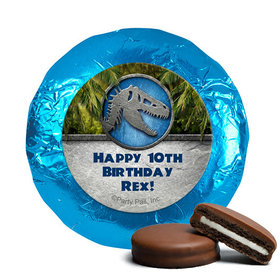 Personalized Birthday Dinosaur Themed Belgian Chocolate Covered Oreos (24 Pack)