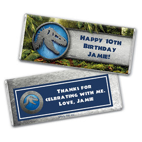 Personalized Birthday Dinosaur Themed Chocolate Bar Wrappers
