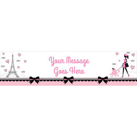 Personalized Paris Party Banner