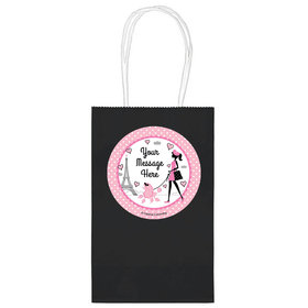 """Paris Party Personalized 5"""" Handle Bags (24 pack)"""