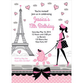 Paris Party Personalized Invitation