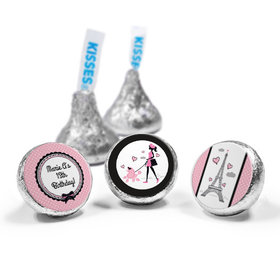 Personalized Birthday Poodle Hershey's Kisses (50 Pack)
