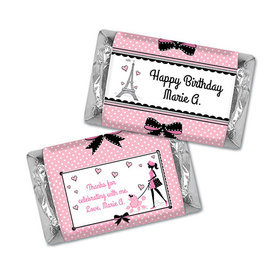 Personalized Birthday Poodle Miniatures Wrappers