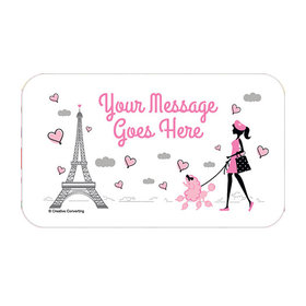 Paris Party Personalized Rectangular Stickers (18 Stickers)