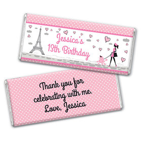 Personalized Birthday Poodle Chocolate Bar Wrappers