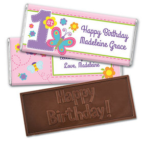 Personalized Birthday Butterfly Embossed Happy Birthday Chocolate Bar