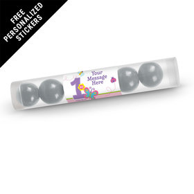 Birthday Personalized Gumball Tube Butterfly 1st Birthday (12 Pack)