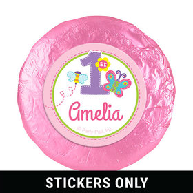 "Personalized Birthday Butterfly 1.25"" Stickers (48 Stickers)"