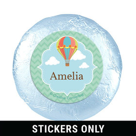 """Personalized Birthday Balloons 1.25"""" Stickers (48 Stickers)"""