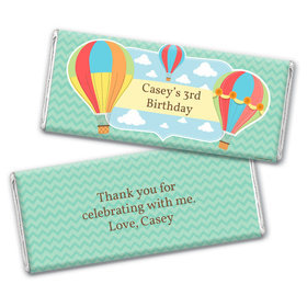 Personalized Birthday Balloons Chocolate Bar Wrappers