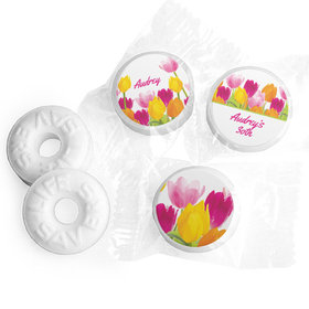 Personalized Birthday Tulips Life Savers Mints
