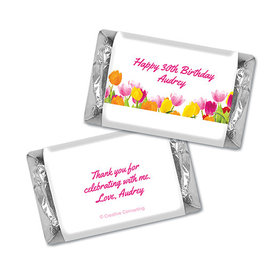 Personalized Birthday Tulips Hershey's Miniatures