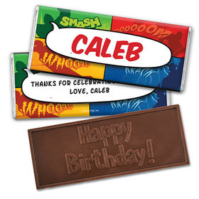 Personalized Birthday Avenger Embossed Happy Birthday Chocolate Bar