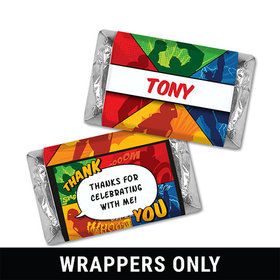 Personalized Birthday Avenger Miniatures Wrappers