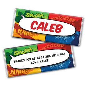 Personalized Birthday Avenger Chocolate Bar Wrappers