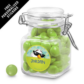 Birthday Personalized Latch Jar Cool Snowman (12 Pack)