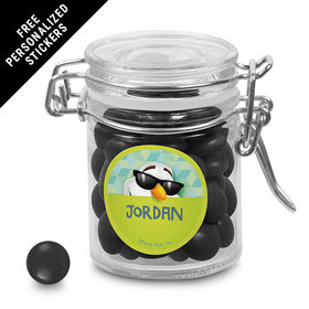 Birthday Personalized Round Latch Jar Cool Snowman (6 Pack)