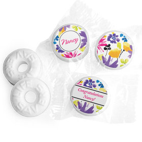 Personalized Birthday Garden Blooms Life Savers Mints