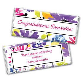 Personalized Birthday Garden Blooms Chocolate Bar & Wrapper