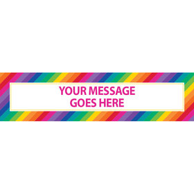 Personalized Rainbow Birthday Banner