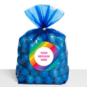 Rainbow Birthday Personalized Cello Bags (Set of 30)