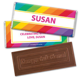 Personalized Birthday Rainbow Embossed Happy Birthday Chocolate Bar