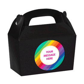 Rainbow Birthday Personalized Favor Boxes (Set of 24)