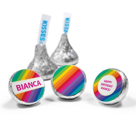 Personalized Birthday Rainbow Hershey's Kisses (50 Pack)