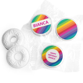 Personalized Birthday Rainbow Life Savers Mints (300 Pack)