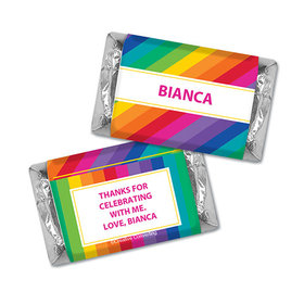 Personalized Birthday Rainbow Hershey's Miniatures