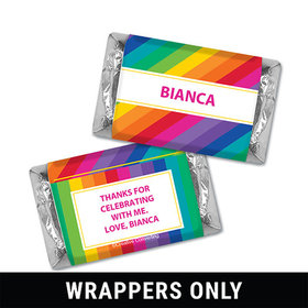 Personalized Birthday Rainbow Miniatures Wrappers